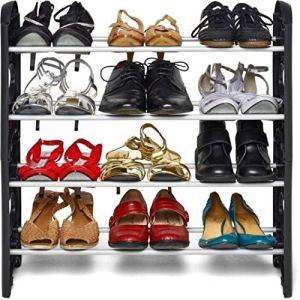 Pureus Foldable Shoe Rack with 4 Shelves (Plastic Rod) 24  Pureus Foldable Shoe Rack with 4 Shelves (Plastic Rod) 51wWCAGVdhL