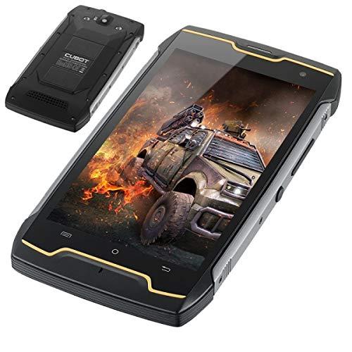 """Cubot King-Kong - Smartphone Dual SIM de 5"""" (Quad Core 1.3 GHz, RAM de 2 GB, Memoria de 16 GB, cámara de 13 MP, Android 7.0) Color Negro"""