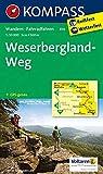 KOMPASS Wanderkarte Weserbergland-Weg: Wanderkarte mit Radtouren. GPS-genau. 1:50000 (KOMPASS-Wanderkarten, Band 819)