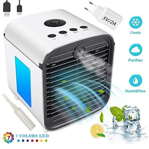 Nifogo Air Portable Cooler - Condizionatore Portatile Silenzioso, 3-in-1 Mini Raffrescatore...