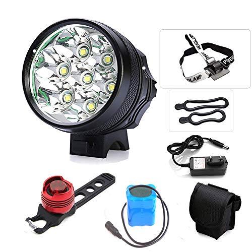 TANSUO luci LED per Bici,9000 Lumen 7X CREE XM-L T6 LED 3 modalità Bici Bicicletta Lampada Esterna...