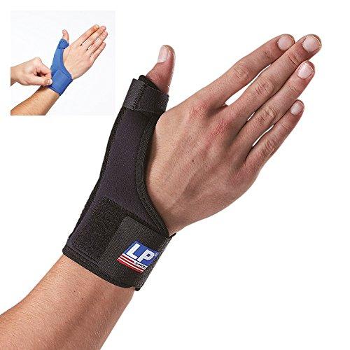 LP Support 763 Daumenorthese - Daumen-Bandage aus der Basic Serie - Daumenstütze - Handbandage, Größe:L, Farbe:schwarz
