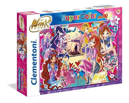 Clementoni Puzzle Winx 104 Maxi Pezzi, Multicolore, 23724
