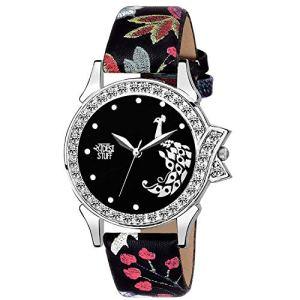 c1edb9d3ec Swadesi Stuff Stylish Black Analog Watch for Girls and Women Watch -for  Girls ...