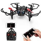 Metakoo RC Drone con Wifi FPV Telecamera HD, Struttura Permeabile al Vento, Giroscopio a 6 Assi, Ritenzione di Altitudine, Velocità Regolabile, Modalità Senza Testa, Tasto di Avvio/Lancio, 3D Flip, M5