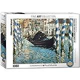 "EuroGraphics ""Edouard Manet Le Grand Canal / Venecia Bleu Puzzle (1000 Piezas, Multi-Color)"