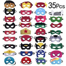 35 Pezzi Maschere di Supereroi, Yidaxing Supereroe per feste, Supereroi Cosplay Maschere Per Bambini Adulti Mascherata Per Feste Mascherine età Compresa tra 3 e più