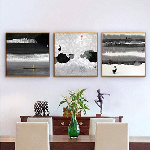 Carta da parati Carta da parati murale Pittura di sfondo divano nuova pittura decorativa cinese Pittura a inchiostro zen Divano in stile cinese@2_40 * 40CM