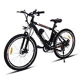 Teamyy Vélo Electrique Homme Phare LED VTT 26 Pouces Vitesses Jusqu'à 35...