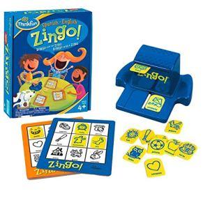 ThinkFun 76321, Zingo Juego Bilingual, Inglés y Español, 2+ Jugadores, Edad Recomendada 4+, Juegos de Mesa para Niños