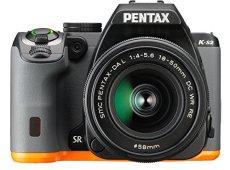 Pentax K-S2+18-50WR - Cámara fotográfica digital, color negro y naranja