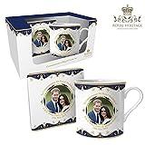 Royal Heritage s.k.h Harry und Megan Markle Hochzeit GEDENKMÜNZE Tasse und Untersetzer, Feines Porzellan, Mehrfarbig, 12x 9x 8cm