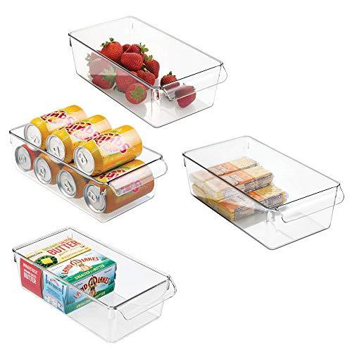 mDesign Contenitori Frigo e Organizer Cucina - Set da 4 Scatole Plastica da usare nel frigorifero o...