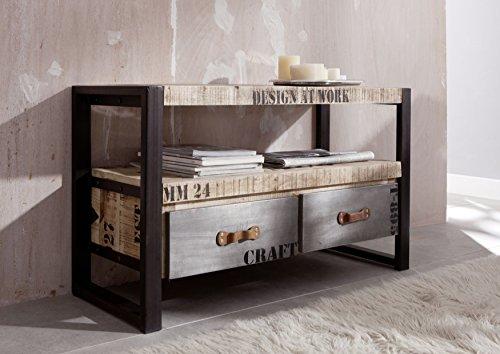 mobili in legno massello STAMPATA massiccio stile industriale mobile tv Mango Legno Legno Massello...