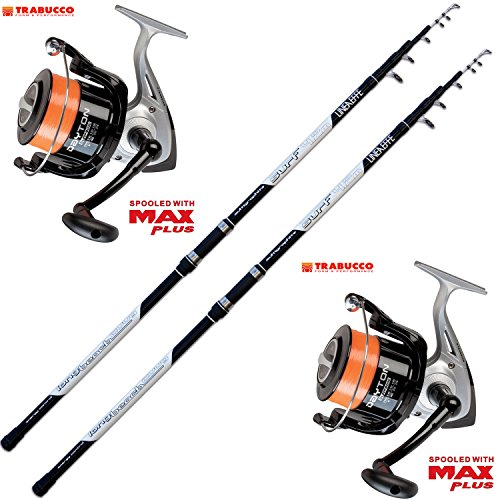 Evo fishing Kit Pesca 2 Canne Surf + 2 Mulinello Trabucco Dayton 8000