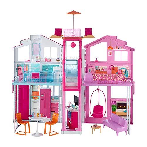 Barbie-la Casa di Malibu per Bambole con Accessori e Colori Vivaci, Giocattolo per Bambini 3+ Anni,...