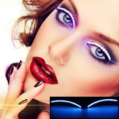 LED-Musik-Sound-Control-Falsche-Wimpern-Augenlid-Mode-Icon-Saloon-Pub-Club-Bar-Party-Halloween