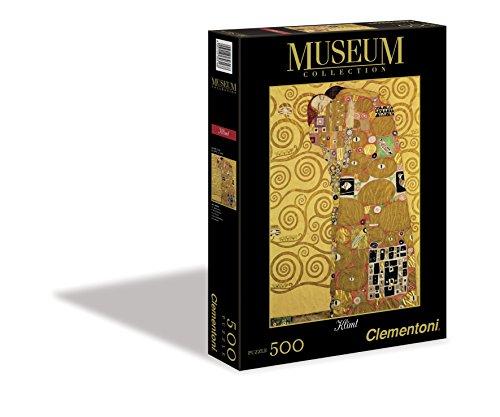 Clementoni 30316 - Puzzle Museum Collection Klimt - L'Abbraccio, 500 Pezzi