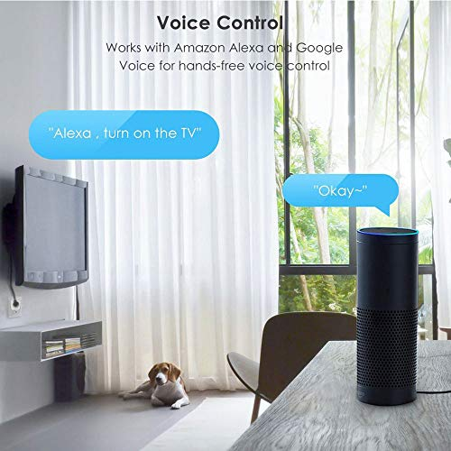 WMIAO WiFi Smart Plug Environnement, Mobile APP Remote Control Timing/Télécommande Prise De Commutateur Alexa Voice Control Goole Assistabt,... 25