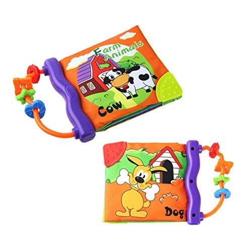 libri neonati con dentaruolo,il Mio Primo Libro attività-Giocattolo Neonato Libro stoffa morbido...