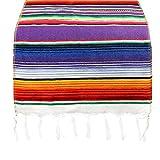 Kereda Tischläufer im mexikanischen Stil, mit bunten Streifen, Baumwollgewebe, Heimdekoration, 35 x 213 cm