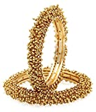 Jewels Galaxy Gold Plated Bangle for Women (Golden)(JG-BNSS-464_1)