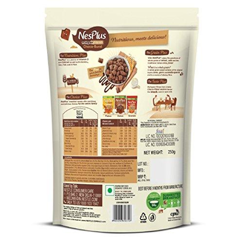 Nestlé NesPlus Breakfast Cereal, Multigrain Fillows - Choco-Burst, 250g Pouch 5