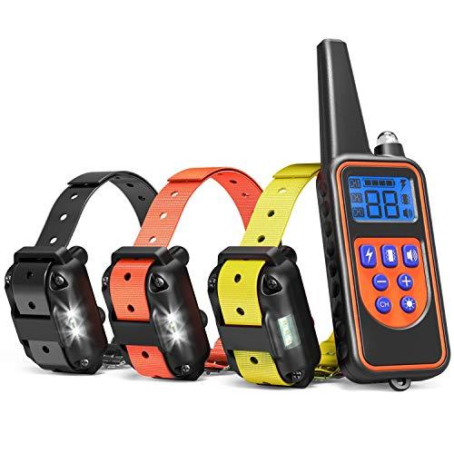 Havenfly Collar de Entrenamiento para Perros, Collar SK Recargable de 2600 pies para Perros 3 Collar Impermeable de SK SK para Perros