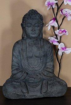 INtrenDU® Figura de Buda Decorativos – Altura 37cm