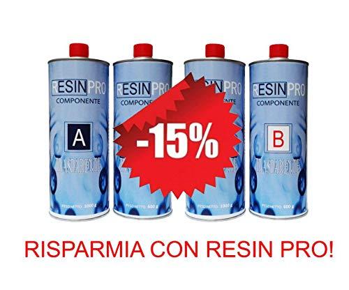 UN'OFFERTA SPECIALE (1,6 KG + 1,6 KG) – SET RESINA EPOSSIDICA TRASPARENTE / MULTIUSO KG 3,2 KG...