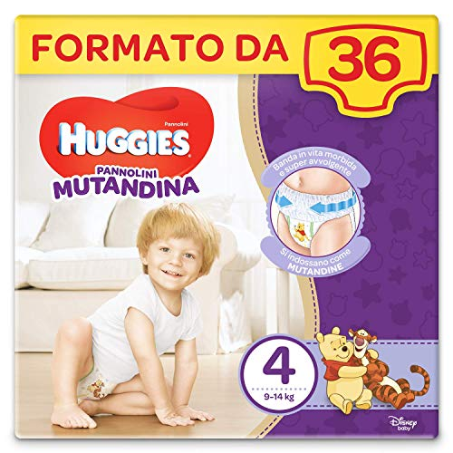 Huggies Pannolino Mutandina, Taglia 4 (9-14 kg), Confezione da 36 Pezzi