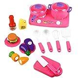 Peradix Kit di Giocattoli Taglio Utensili da Cucina con Suoni E Verdura Borsa Accessori Cucina 19 Pezzi di Giocattoli Cucina Bambini