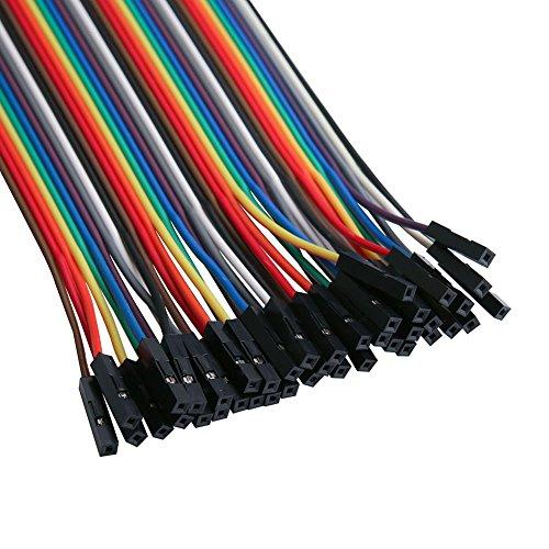 51xNzsKVu0L - ELEGOO 120 Piezas de Cable DuPont, 40 Pines Macho-Hembra, 40 Pines Macho-Macho, 40 Pines Hembra-Hembra, Cables Puente para Placas Prototipo (Protoboard) para Arduino