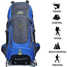 Gshopper Mochila de Viaje 70L Senderismo Ligera Impermeable para Marcha Trekking Camping Montaña Escalada Blue