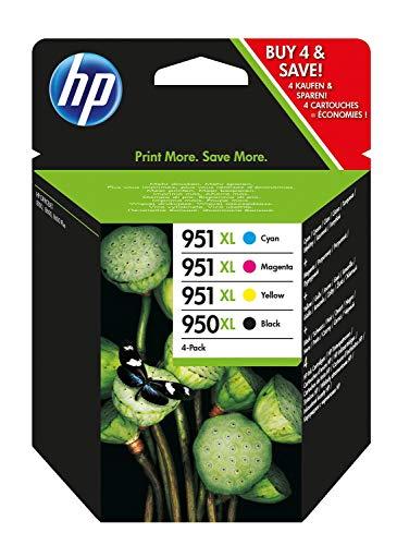 HP 950XL-951XL C2P43AE Cartuccia Originale per Stampanti HP a Getto d'Inchiostro, Compatibile con HP...