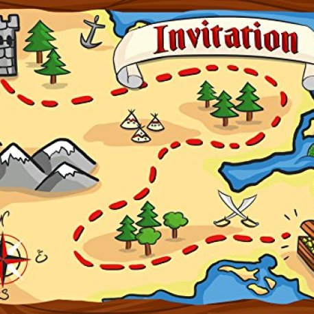 12 cartes d 39 invitation anniversaire enfant th me les pirates cartes invitations filles - Invitation anniversaire garcon pirate ...