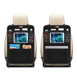 AEMIAO 2 PCS Protezione Sedile Auto Organizzatore, Proteggi Sedile Posteriore Auto Bambini Universal Coprisedile Auto Bambini Impermeabile Supporto per Tablet 10″