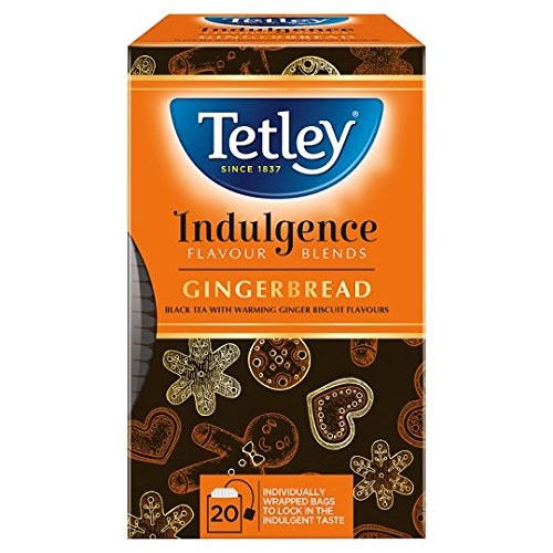 Tetley indulgence tea (rainforest alliance) (black tea) (20 bags) (a sweet tea ginger flavoured) (brews in 2-3 minutes)