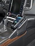 KUDA Telefonconsole (LHD) per Renault Talisman, anno di costruzione dal 2016in Eco Pelle Nero