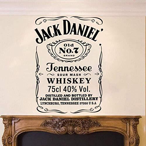 Adesivi Per Muro Jack Daniel Adesivo murale Inglese Soggiorno Divano Camera da Letto Wall Sticker 56cm × 40cm