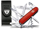 Victorinox Huntsman Taschenmesser Set, inkl. Lederetui und Wunschgravur