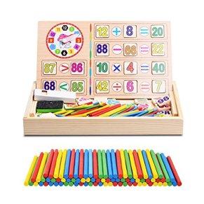 Yosoo Juguetes Bebé Matemáticas Juguetes Caja Madera Operación Digital Dibujo Bloques Educativos Regalo Cumpleaños Niño…