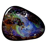 7.08 ct Fancy Shape (16 x 13 mm) Play of Colors Australian Koroit Boulder Opal Natural Loose Gemstone