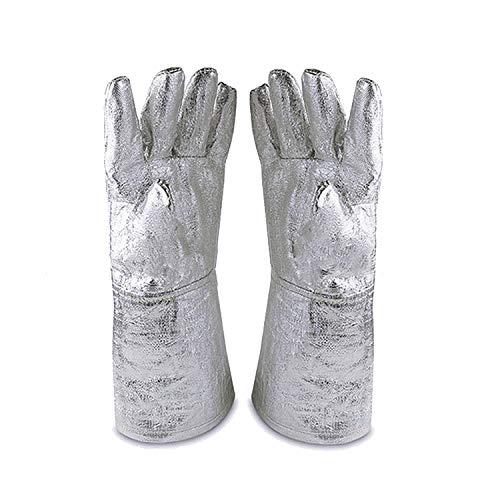 932 ° -835.6 ° C Guanti ignifughi a isolamento termico in lamina di alluminio, guanti di sicurezza...