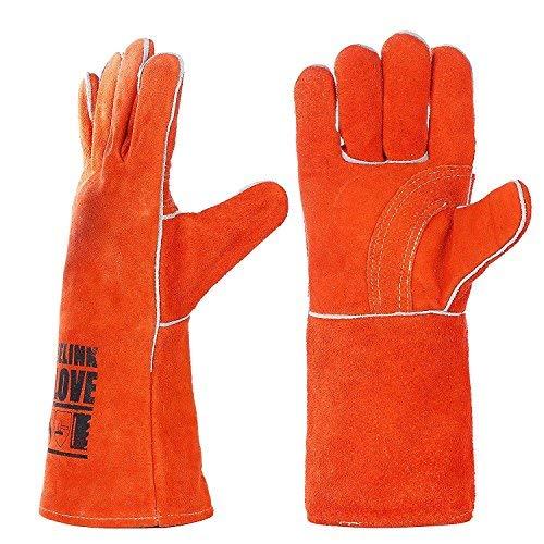 Pelle saldatura guanti da lavoro-Guanti resistenti al calore