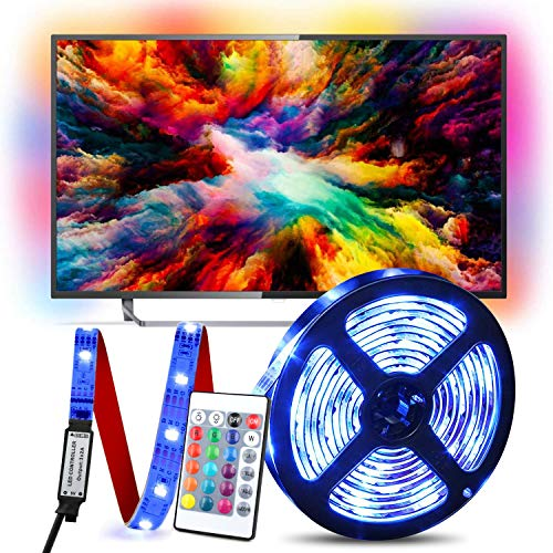 LED TV Retroilluminazione, 2m Striscia LED RGB USB alimentata Retroilluminazione TV LED con...