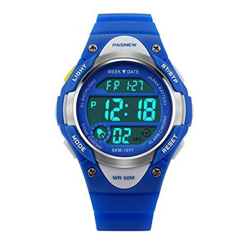 Hiwatch Reloj para Niños/Niñas Deportivos Impermeable 164 pies LED Digital a Prueba de Agua Relojes Infantil Azul