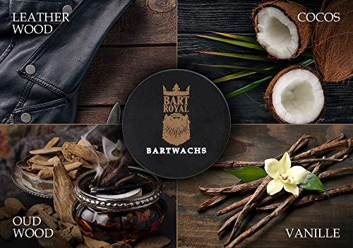Bart Royal Bartwachs Vanille, Wachs für das Bartstyling, pflegt mit wertvollen Ölen und Bienenwachs, extra starker Halt, Made in Germany, 1 x 30ml
