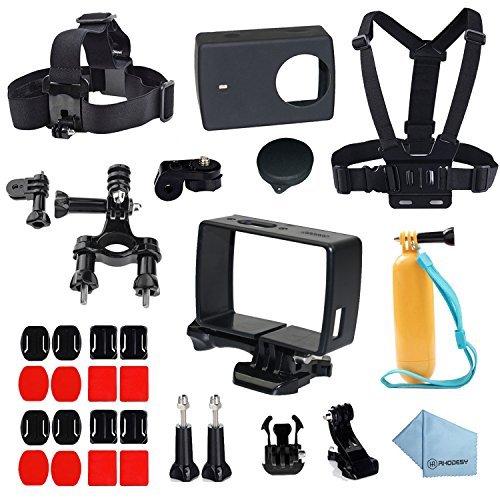 Rhodesy Telaio Protettivo Custodia 28 in 1 Xiaomi Yi 4K/4K+ Yi Lite Accessori Busta for Xiaomi Yi 4K/4K+ Yi Lite Action Camera 2