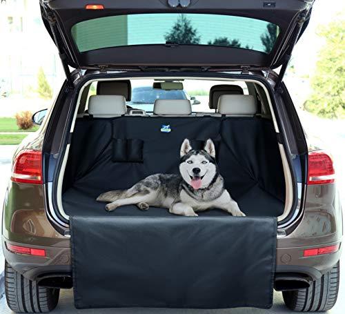 Jekam Kofferraum-Schutz Hund wasserdicht mit praktischer Transporttasche strapazierfähige Kofferraumschondecke mit Seitenschutz für Kombi SUV Van